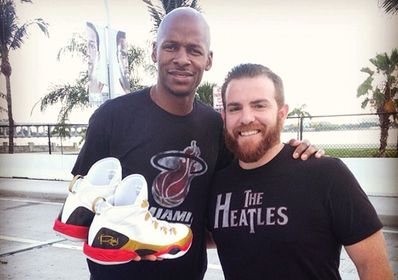 54ba520c6409 Sneaker News  Ray Allen Finals custom shoes. RAY ALLEN WORE A PAIR OF CUSTOM  AIR JORDANS ...